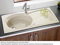 Гранитная мойка с одной чашей и крылом в кухню от производителя LONGRAN PREMIUM ELLIPSE Opal White (Granite), фото 1