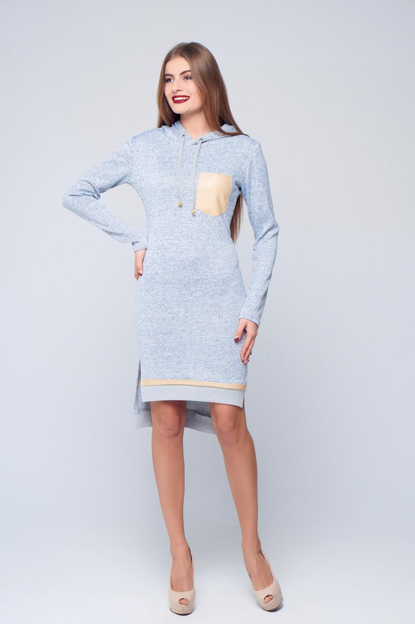 cb65574cf5f Повседневное платье с капюшоном Нания - DS Moda - женская одежда оптом от  производителя в Харькове