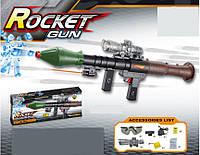 """Ракетница """"Rocket Gun"""" аккум., аксесс., гелев. пулямив кор. 80*26*9см (8шт/2)"""