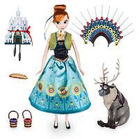 Анна поющая кукла принцесса Дисней Холодное сердце в подарочной коробке с аксессуарами / Anna Frozen Disney