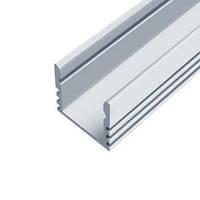Профиль для светодиодной ленты накладной ЛП12 12х16 мм анодированный