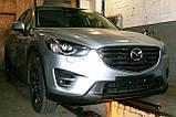 Декоративно-захисна сітка радіатора Mazda CX5 фальшрадіаторная решітка, бампер, фото 5