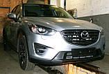 Декоративно-захисна сітка радіатора Mazda CX5 фальшрадіаторная решітка, бампер, фото 4
