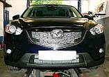 Декоративно-захисна сітка радіатора Mazda CX5 фальшрадіаторная решітка, бампер, фото 7