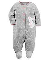 Человечек теплый махровый Сон & Игра Carters на новорожденного до 55 см