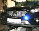 Декоративно-захисна сітка радіатора Mazda CX5 фальшрадіаторная решітка, бампер, фото 8