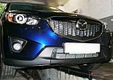 Декоративно-захисна сітка радіатора Mazda CX5 фальшрадіаторная решітка, бампер, фото 9