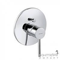 Смесители Kludi Внешняя часть смесителя с переключателем для ванны и обратным клапаном Kludi Bozz 386570576