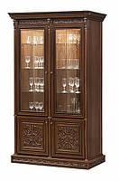 Тоскана Нова витрина 2-х дверная вариант №1 (Скай) 152х227х50