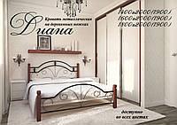 Кровать Диана металл/дерево