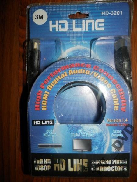 HDMI-HDMI Кабель HD Line HD-3201 3 М