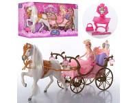 Карета с лошадью, 52см, кукла 29см, 207A