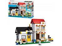 Конструктор SLUBAN дом, газонокосилка, фигурки, 431дет, M38-B0573