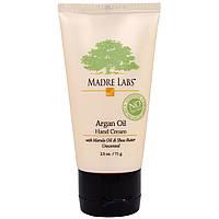 Крем для рук с марулой и маслом ши, без запаха Madre Labs Argan Oil Hand Cream 71 g
