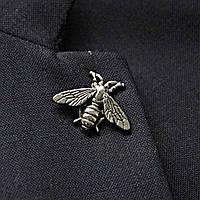 Bow Tie House™ Брошь металическая на пиджак в виде пчелы