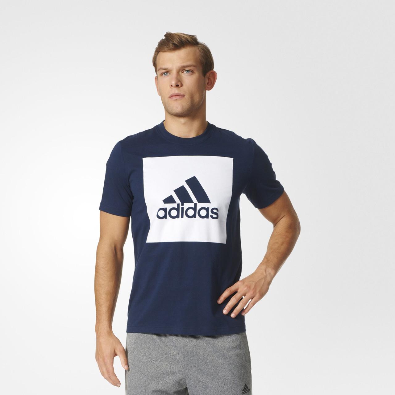 31c9f9acb42ea8 Мужская футболка Adidas Performance Essentials Box Logo (Артикул: S98726) -  Интернет-магазин