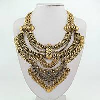 """Массивное колье """"Богема"""" (цвет: золотой) подвеска, ожерелье"""