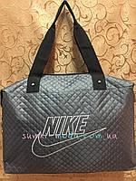 Женские сумка найк nike стеганная Стильная с кожаным дном/Сумка женская дутики спортивная только оптом