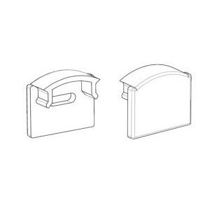 Заглушка без отверстия для профиля ЛП7 7х16мм