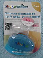 Силиконовая щеточка для зубов и массажа десен