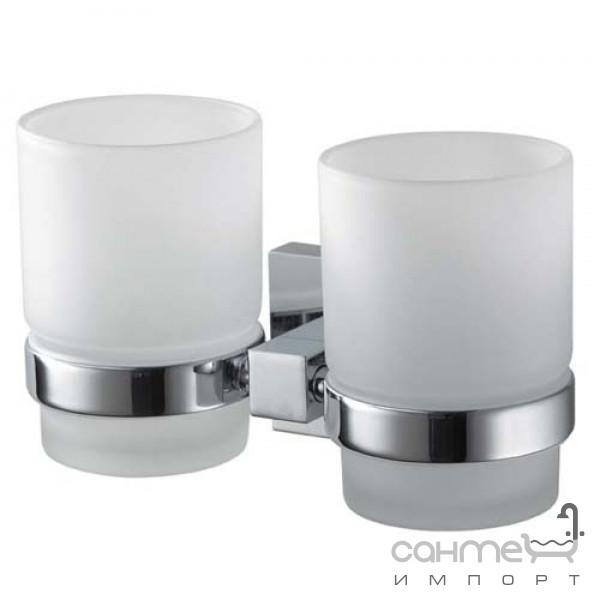 Аксессуары для ванной комнаты Haceka Стакан для зубных щеток, двойной Haceka Mezzo Chroom 403008