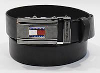 Кожаный ремень автомат мужской Tommy Hilfiger 8006-303 черный, коричневый, темно-синий, фото 1