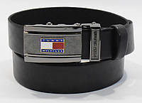 Кожаный ремень автомат мужской Tommy Hilfiger 8006-303 черный, коричневый, темно-синий