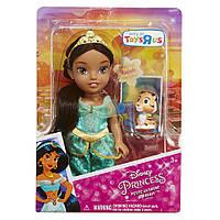 Кукла малышка Жасмин с питомцем, 15 см