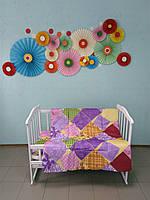 Детское одеяло и подушка в кроватку, (110х140)