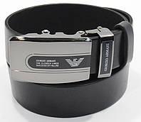 Кожаный ремень автомат мужской Giorgio Armani 8006-302 черный, коричневый, темно-синий