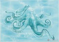 Березакерамика декор Березакерамика Лазурь Осьминог 25x35