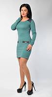 """Модное молодежное платье """"Офис-мини"""" бирюзового цвета."""