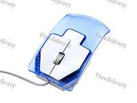 USB оптическая мышь мышка, прозрачная, подсветка