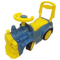 Машинка для катания толокар Орион 761 Паровозик голубой