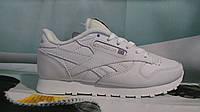 Женские кроссовки Reebok Classic кожа белые