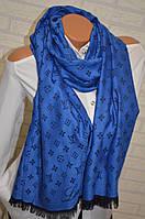 Синий палантин двусторонний Louis Vuitton модный аксессуар