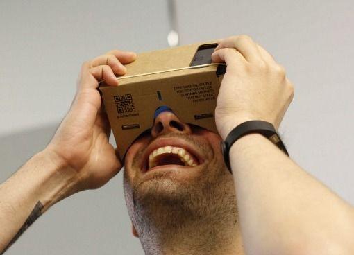 Google очки виртуальной реальности из картона cardboard  5 дюймов