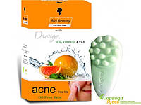 Антисептическое мыло Антиакне для жирной кожи с Апельсиновым маслом и Чайного дерева, Anti Acne Soap Orange, Tea Tree Oil & Vit.