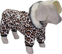 Комбинезон зимний для собак Тигрюля мини, длина - 21 см, объем 27 см