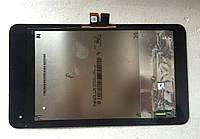 Дисплей (LCD) Asus ME170/ FE170cG FonePad (K012/ K017) MeMO Pad 7 с сенсором черный + рамка