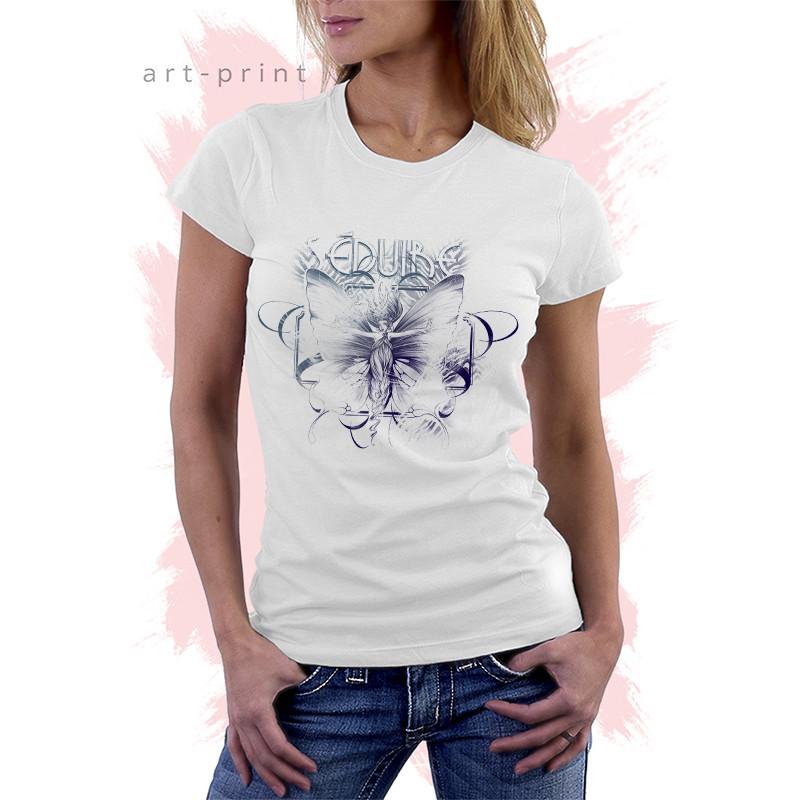 біла футболка з малюнком фея