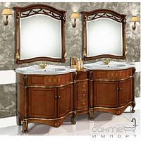 Мебель для ванных комнат и зеркала Gallo Комплект мебели двойной Gallo Giglio 210-S Noce stracciato+Oro foglia GS-210ORO без зеркал
