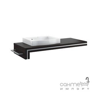 Мебель для ванных комнат и зеркала Aquaform Консоль Aquaform Ancona 120 левая под умывальник (0401-221601) легно темный