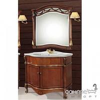 Мебель для ванных комнат и зеркала Gallo Комплект мебели Gallo Giglio ORO 90-S Noce stracciato+Oro foglia GPO-90 без зеркала