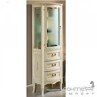 Мебель для ванных комнат и зеркала Gallo Пенал напольный Gallo Gianna Colonna Patinata avorio+Decor