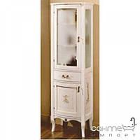 Мебель для ванных комнат и зеркала Gallo Пенал напольный Gallo Iris Colonna Patinata avorio+Decor