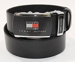 Ремень кожаный мужской автомат черный 8006-304