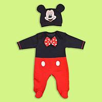 Человечек  Микки Маус,комплект для малыша Микки маус хлопок