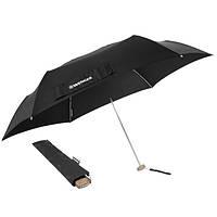Ультра плоский зонтик WENGER, черный, 5,5х22,5см, вес 170г