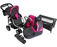 Набор коляска, манеж и автокресло для кукол MarioToys